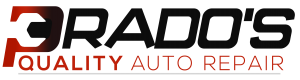 Prado's quality auto repair and smog logo full banner