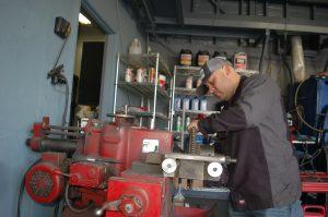 Johnny on Brakes rotors machine
